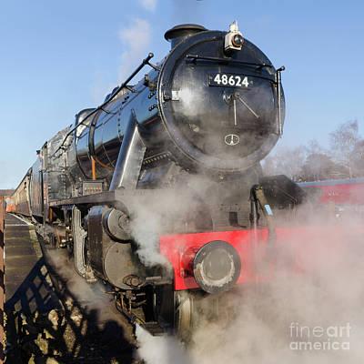 Photograph - 48624 Steam Locomotive by Steev Stamford