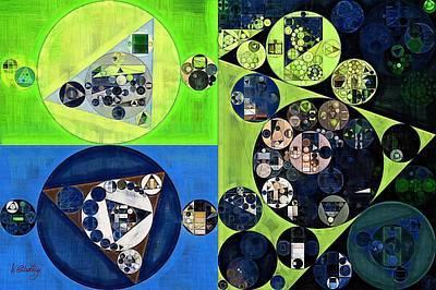 Art Print featuring the digital art Abstract Painting - Dark Jungle Green by Vitaliy Gladkiy