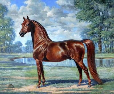 Morgan Horse Painting - #49 - Aquarian Revelry by Jeanne Mellin Herrick
