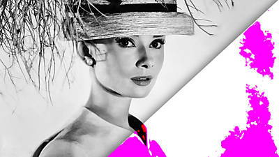 Audrey Hepburn Collection Art Print by Marvin Blaine