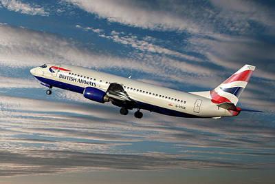 Passenger Plane Photograph - British Airways Boeing 737-400 by Smart Aviation