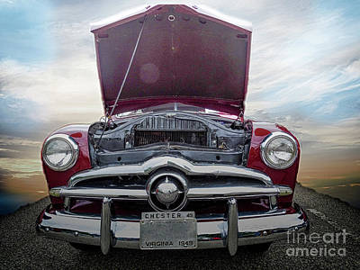 Photograph - 49 Ford Into The Clouds by Melissa Messick