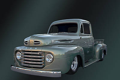 49 Ford Pick Up Art Print by Jim  Hatch