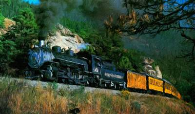 Bob Ross Painting - Nature Landscape Illumination by Margaret J Rocha