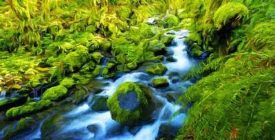 Autumn Painting - Nature Oil Canvas Landscape by Margaret J Rocha