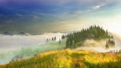 Bob Ross Digital Art - Oil Paintings Landscapes by Victoria Landscapes