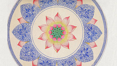 Floral Tapestry - Textile - Colorful Ethnic Art - Asian Flower Pattern Wall Art Prints by Wall Art Prints