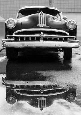 Rainy Day Photograph - 49 Pontiac After A Rain by Jim Hughes