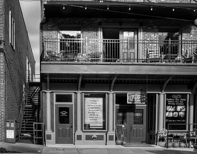 Bamboo Chair Photograph - 494 E Main Street In Black And White by Greg Mimbs