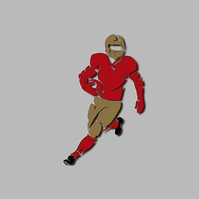49ers Player Shirt Art Print by Joe Hamilton