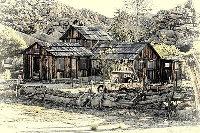 Digital Art - Keys Ranch At Joshua Tree National Park by Georgianne Giese