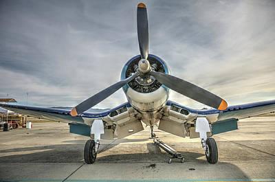 Photograph - 4fu Corsair At Hollister by John King