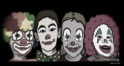 Digital Art - 4happy Clowns 80 by Megan Dirsa-DuBois