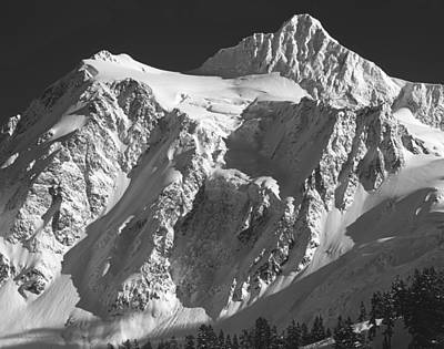 Photograph - 4m4221 Bw Mt. Shuksan by Ed Cooper Photography