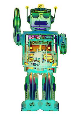 Photograph - 4n0d3x-ray Robot Art by Roy Livingston