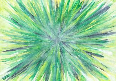 Radiating Chakra Painting - 4th Chakra / Heart by Ellen Jenny Watkins