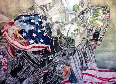 Painting - 4th Of July Cycle by Lance Wurst