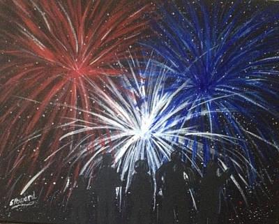 4th Of July Fireworks Original by Sherri Howard