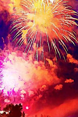 Photograph - 4th Of July Fireworks by Tatiana Travelways