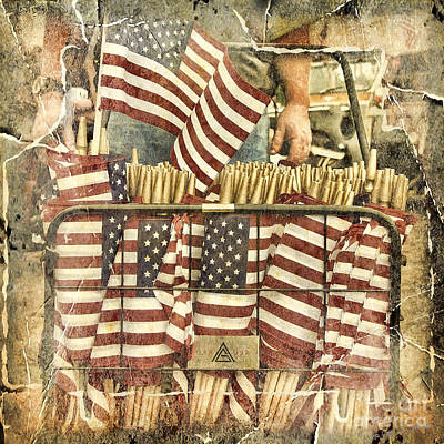Photograph - 4th Of July Flags by Craig J Satterlee