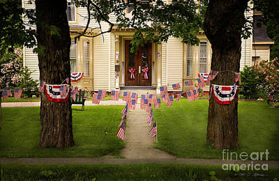 Art Print featuring the photograph 4th Of July Home by Craig J Satterlee