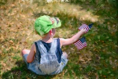 4th Of July Original by Mary Timman