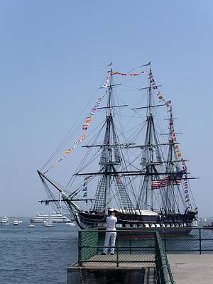 4th Of July Turnaround Uss Constitution Castle Island South Boston Ma Art Print