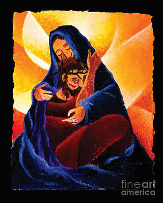 Painting - 4th Station, Jesus Meets His Mother - Mmfos by Br Mickey McGrath OSFS