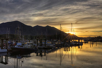 Vancouver Photograph - 4th Street Docks Sunrise - Tofino by Mark Kiver