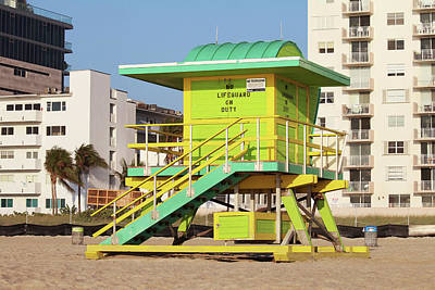 Photograph - 4th Street Lifeguard Tower by Art Block Collections