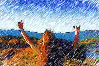 4x4 Baby Rock N Rolllll Original by Holly Ethan