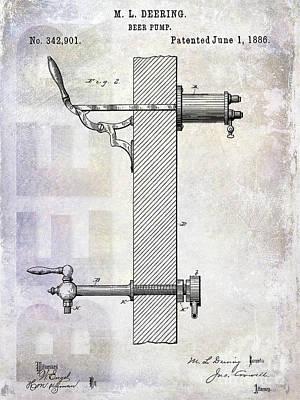 Modern Micro Art Photograph - 1886 Beer Pump Patent by Jon Neidert