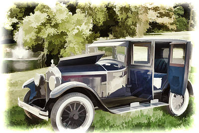 Photograph - 1924 Buick Duchess Antique Vintage Photograph Fine Art Prints 106 by M K  Miller