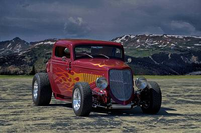 Photograph - 1934 Ford Coupe Hot Rod by TeeMack