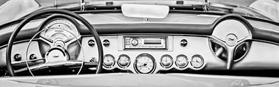 Photograph - 1954 Chevrolet Corvette Dashboard by Jill Reger