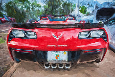 Photograph - 2015 Chevrolet Corvette Zo6 Painted    by Rich Franco