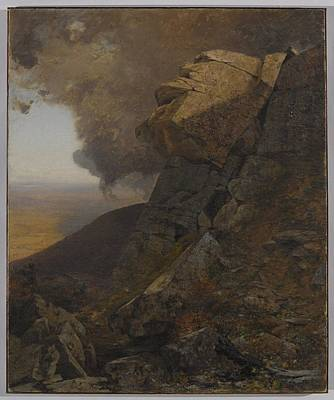 Jervis Painting -  A Cliff In The Katskills by Jervis McEntee