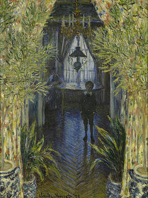 Architecture Painting - A Corner Of The Apartment by Claude Monet