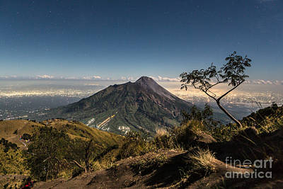 Jogjakarta Photograph - A View Of Merapi Volcano In Java In Indonesia by Didier Marti