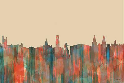 Digital Art - Aberdeen Scotland Skyline by Marlene Watson