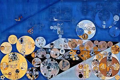 Bark Digital Art - Abstract Painting - Yale Blue by Vitaliy Gladkiy
