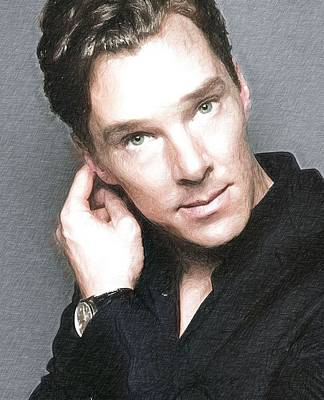 Actor Benedict Cumberbatch  Art Print