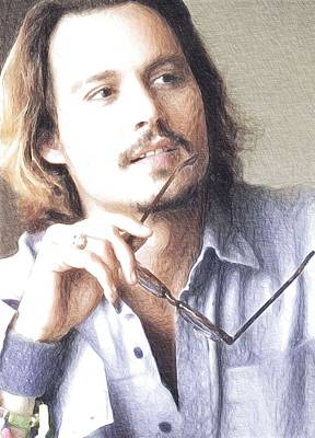 Actor Johnny Depp  Print by Best Actors