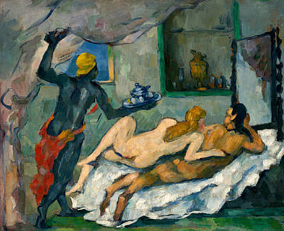 Boudoir Painting - Afternoon In Naples by Paul Cezanne