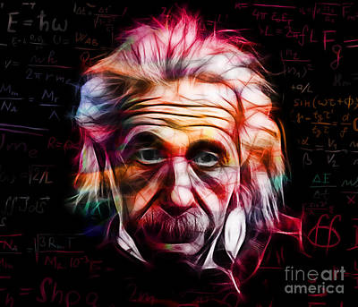Physics Mixed Media - Albert Einstein Collection by Marvin Blaine