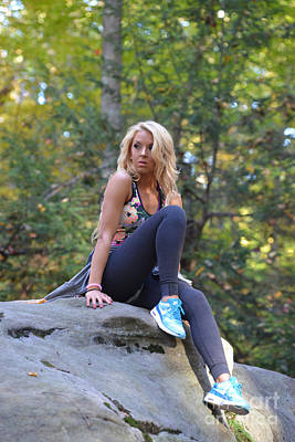 Photograph - Ally At Coopers Rock In The Fall by Dan Friend