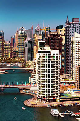 Photograph - Amazing Colorful Dubai Marina Skyline. Dubai, United Arab Emirates. by Marek Kijevsky