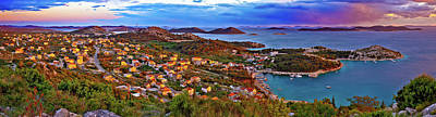Clouds Rights Managed Images - Amazing colorful sunset panorama of Pakostane archipelago Royalty-Free Image by Brch Photography