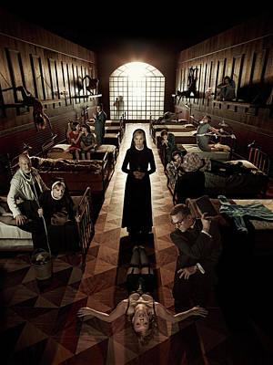 Horror Digital Art - American Horror Story Asylum 2012 by Fine Artist
