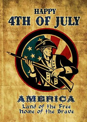 American Revolution Soldier General  Art Print by Aloysius Patrimonio